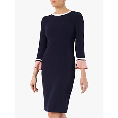 The Fold Rosnaree Dress, Navy