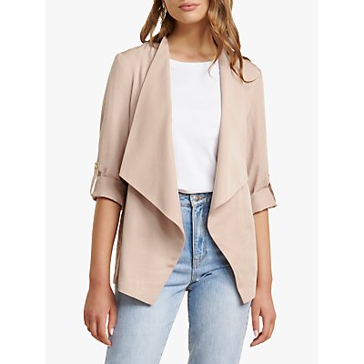 Forever New Carrie Waterfall Jacket, Light Caramel