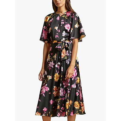 Ted Baker Ossiee Floral Midi Dress, Black