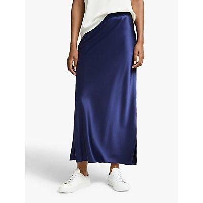 Theory Slip Maxi Skirt, Bright Navy