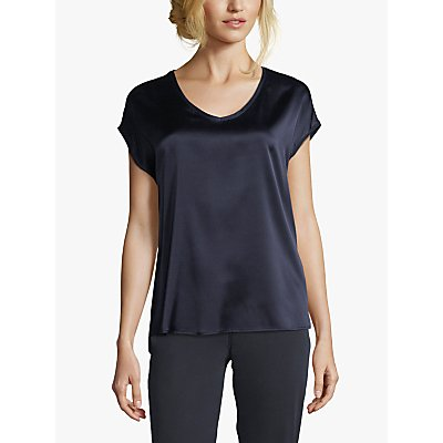 Betty Barclay V-Neck Silk Front Top