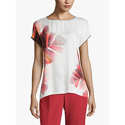 Betty & Co Floral Print Top, Cream