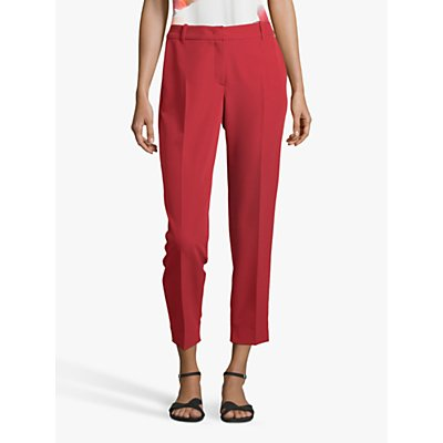 Betty & Co Tailored Ankle Grazer Trousers, Fire Red