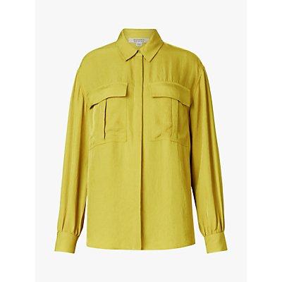 AllSaints Esme Long Sleeved Patch Pocket Blouse