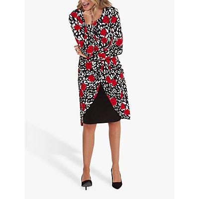 Gina Bacconi Bettina Floral Print Jersey Dress, Black/Multi