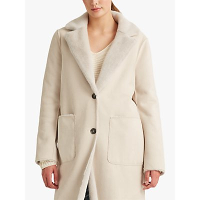 Lauren Ralph Lauren Reversible Faux Fur Coat, Natural