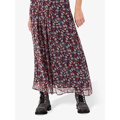 Brora Liberty Floral Silk Maxi Skirt, Hawthorn