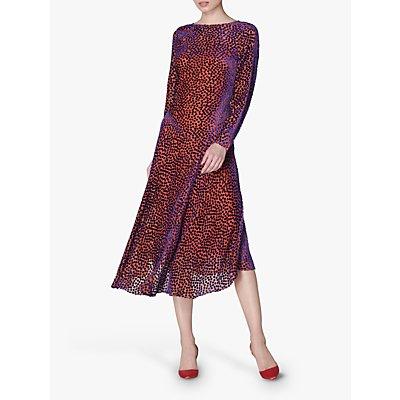 L.K.Bennett Bloomsbury Spot Midi Dress, Multi/Pink