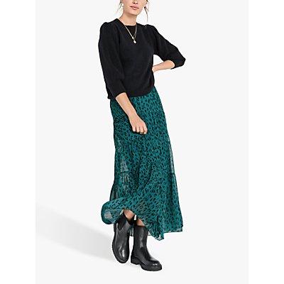 hush Branwen Leopard Maxi Skirt, Green