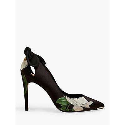 Ted Baker Mishiar Stiletto Heel Bow Detail Court Shoes, Black