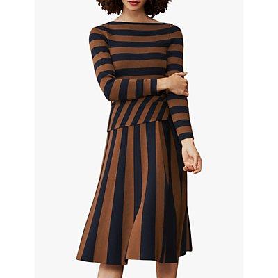 The Fold Camel Stripe Midi Dress, Multi