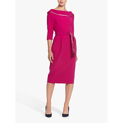 Helen McAlinden Cyclamine Cowl Knee Length Dress, Pink