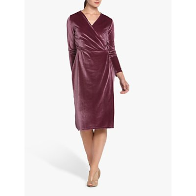 Helen McAlinden Roma Velvet Wrap Knee Length Dress, Paisley