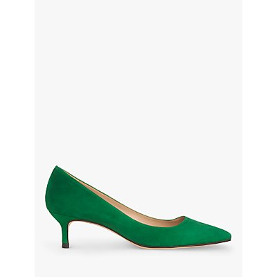 L.K.Bennett Audrey Pointed Toe Court Shoes, Green