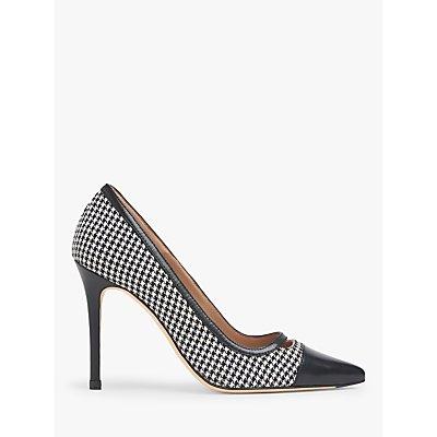 L.K.Bennett Frankie Houndstooth Court Shoes, Black/White