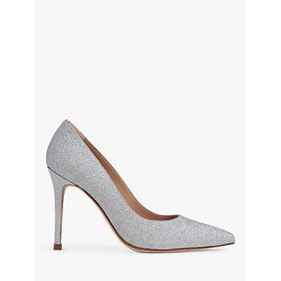 L.K.Bennett Fern Sparkling Court Shoes, Silver