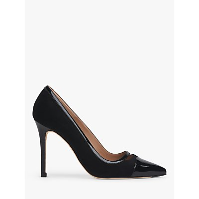 L.K.Bennett Frankie Suede Court Shoes, Black