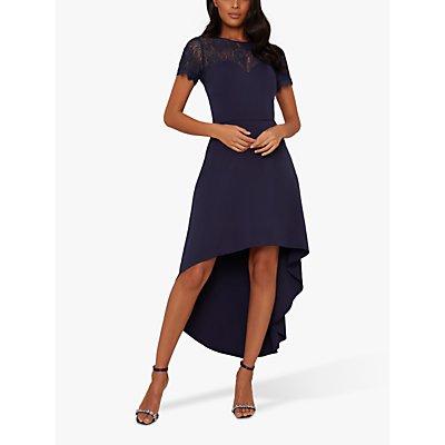 Chi Chi London Jazper Lace Bodice Dress, Navy