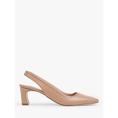 L.K.Bennett Honor Leather Slingback Court Shoes, Camel