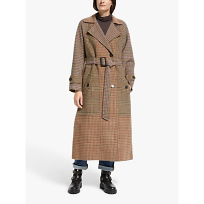 Weekend Max Mara Foggia Check Belted Coat, Camel
