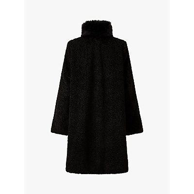 Four Seasons Astrakan Faux Fur Long Coat