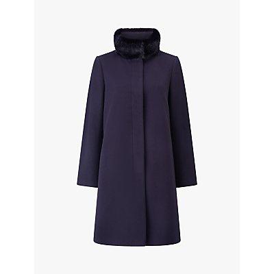Four Seasons Faux Fur High Collar Coat