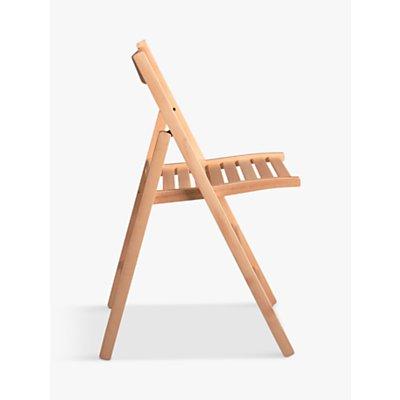 House by John Lewis Buiani Folding Chair, FSC-Certified (Beech), Natural