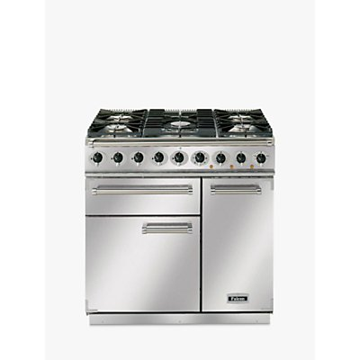 Falcon 900 Deluxe Dual Fuel Range Cooker, Stainless Steel