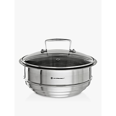 Le Creuset 3-Ply Stainless Steel Multi-Steamer with Glass Lid, 22cm