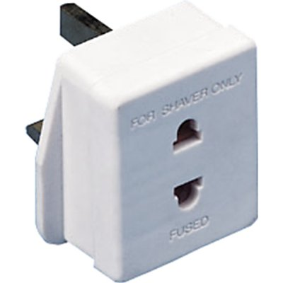 John Lewis & Partners 13A Shaver Adapter