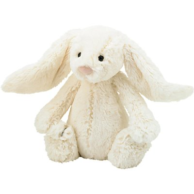 Jellycat Bashful Bunny Soft Toy, Medium, Cream