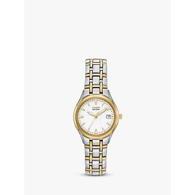 Citizen EW1264 50A Women s Eco Drive Two Tone Bracelet Strap Watch  Gold Silver - 5060045473103