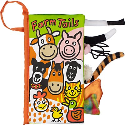 Jellycat Farm Tails Children's Soft Book
