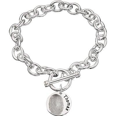 Under The Rose Personalised Women s Fingerprint Charm Bracelet  1 Charm - 27582442