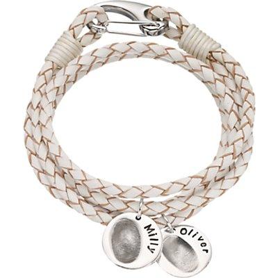 Under The Rose Personalised Women s Leather Fingerprint Bracelet - 27584545