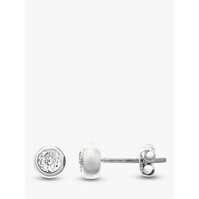 Nina Breddal Sterling Silver Round Stud Earrings - 26279909