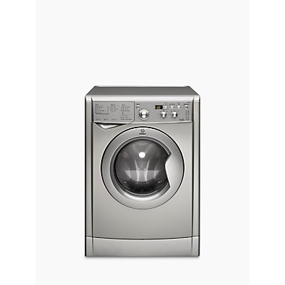 Indesit IWDD7143S Ecotime Washer Dryer, 7kg Wash/5kg Dry Load, B Energy Rating, 1400rpm Spin, Silver