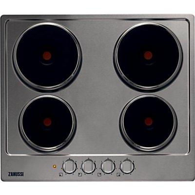 Zanussi ZEE6940FXA  Sealed Plate Electric Hob  60cm Wide  Stainless Steel - 7332543177844