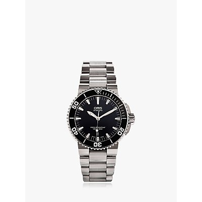 5052210002065 | Oris 01 733 7653 4154 07 8 26 01PEB Men s Aquis Date Bracelet Strap Watch  Silver Black