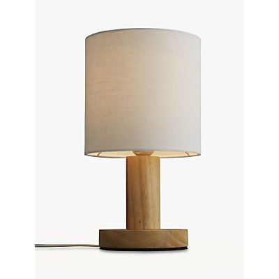 John Lewis & Partners Slater Wood Touch Table Lamp