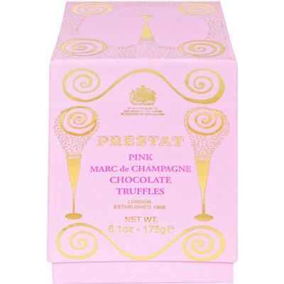 Prestat Marc de Champagne Pink Chocolate Truffles, 175g