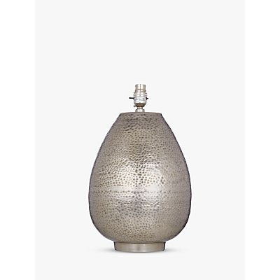 John Lewis & Partners Valda Pot Lamp Base, Silver, H37cm