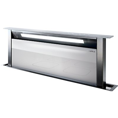 Elica ANDANTE WH Andante Stainless Steel and White Glass 90cm Wide Downdraft Extractor 8020283017627
