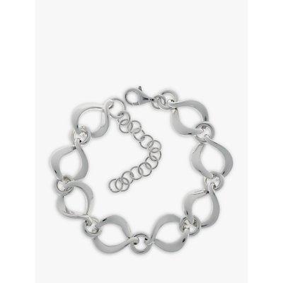 Nina Breddal Sterling Silver Twisted Open Link Bracelet - 21904257