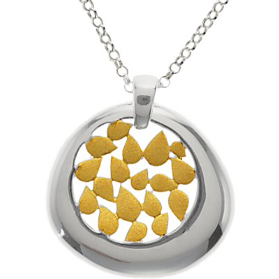 Nina Breddal Petals Pendant Necklace  Silver Gold - 29164585