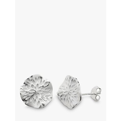 Nina Breddal Sterling Silver Wavy Disc Stud Earrings - 29164325