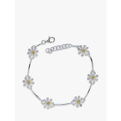 Nina Breddal Flower Sterling Silver And Gold Plated Bracelet - 29339716