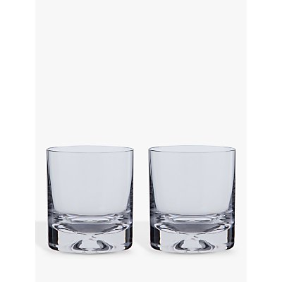 Dartington Crystal Dimple Old Fashioned Whiskey Glasses  Set of 2 - 5013298124186