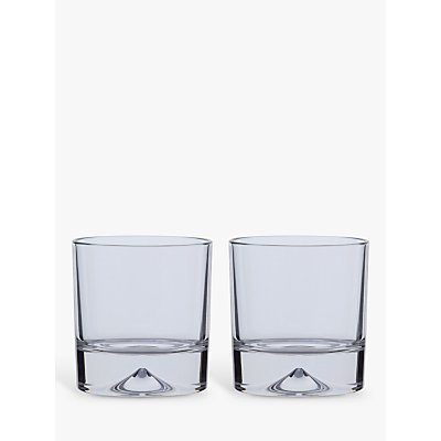 Dartington Crystal Dimple Double Old Fashioned Whiskey Glasses  Set of 2 - 5013298124193