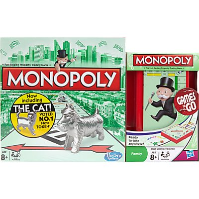 Monopoly Board Game and Monopoly Travel Set